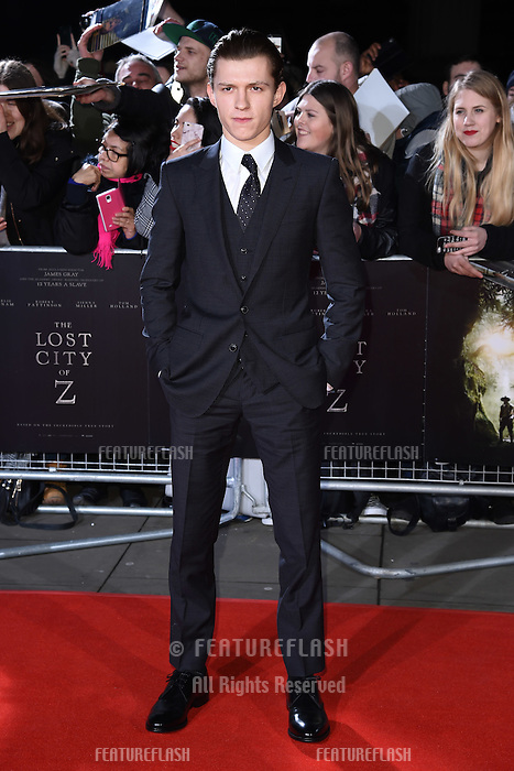 Tom Holland at the UK premiere of &quot;The Lost City of Z&quot; at the British Museum, London, UK. <br /> 16 February  2017<br /> Picture: Steve Vas/Featureflash/SilverHub 0208 004 5359 sales@silverhubmedia.com