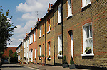 Richmond on Thames Surrey UK 2007. Traditional red brick Edwardian cottages for working people. Now gentrified.