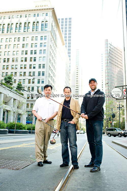 Chad Nelson - President, YuChiang Cheng - CEO, Homan Lee - Director IS&T - World Golf Tour: Executive portrait photographs by San Francisco - corporate and annual report - photographer Robert Houser.