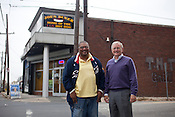 Joe Bushfan and Dan Hill outside Joe's Dinner on the corner of Angier Avenue and Driver Street in Durham, N.C., Nov.  15, 2010. .