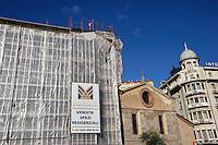 Lugano.Palazzi in ristrutturazione.