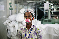 Workers in a Bangladesh garments factory