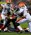 17 November 2008:  Buffalo Bills' running back Fred Jackson gains short yardage against the Cleveland Browns at Ralph Wilson Stadium in Orchard Park, NY. The Browns defeated the Bills 29-27 in the Monday Night AFC matchup. *** Editorial Sales Only ****..Mandatory Photo Credit: Ed Wolfstein Photo