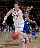 Stanford, CA., March 24, 2013-- Stanford's  Sara James drives the ball down court during Sunday, March 24, 2013, first round 2013 NCAA Division I Women Basketball game against Tulsa. Stanford won the game 72-56. ( Norbert von der Groeben / ISI Photo )