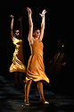 dotdotdot dance present new work as a Wild Card in the Lilian Baylis Studio, Sadler's Wells. dotdotdot dance is a new company of three young British dancers who have fallen in love with flamenco. Magdalena Mannion, yinka Esi Graves and Noemi Luz all trained in different dance styles before adopting this art form. Picture shows: Magdalena Mannion (front), Yinka Esi Graves