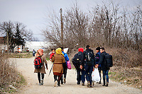 Syrian refugees crossing the Greece-Macedonian border,arrive the transit camp for take a special train the station of Gevgelija that takes them to the Serbian border. 8 Febraury 2016.<br /> Hundreds of refugees arrive at Idomeni and cross the border between Greece and Macedonian on their journey to North Europe.