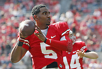 Ohio State Buckeyes quarterback Braxton Miller (5) against Colorado Buffaloes during their NCAA College football game at Ohio Stadium, September 24, 2011.  (Dispatch photo by Brooke LaValley)