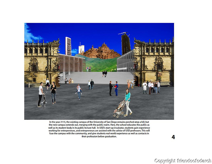 Entry from Teddy Planitzer, NSAD for FSDA Collage Competition, 2015. Envisions a start-up incubator and the school merges with the public realm.
