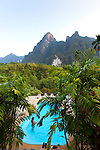 Elephant Hills Luxury Tented Camp in the rainforest in Southern Thailand.  Pictured here is the swimming pool.