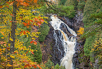 Pattison State Park, Wisconsin: Big Manitou Falls on the Black River in fall