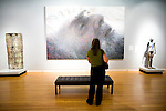 Jodi Bitter views contemporary artwork at the Crocker Art Museum in Sacramento, California.