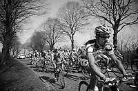 Kenny Dehaes up Casselberg..74th Gent-Wevelgem (2012).236km between Deinze & Wevelgem.winner 2012: Tom Boonen..