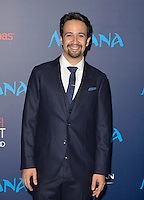"HOLLYWOOD, CA - NOVEMBER 14: Lin-Manuel Miranda attends the AFI FEST 2016 Presented By Audi - Premiere Of Disney's ""Moana"" at the El Capitan Theatre in Hollywood, California on November 14, 2016. Credit: Koi Sojer/Snap'N U Photos/MediaPunch"