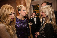 Rachel Zoe, Kate Hudson, and Bo Derek, from left, attend the Bloomberg Vanity Fair White House Correspondents' Association dinner afterparty at the residence of the French Ambassador on Saturday, April 28, 2012 in Washington, DC. Brendan Hoffman for the New York Times