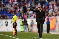 Colorado Rapids head coach Pablo Mastroeni. The New York Red Bulls and the Colorado Rapids played to a 1-1 tie during a Major League Soccer (MLS) match at Red Bull Arena in Harrison, NJ, on March 15, 2014.