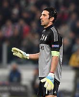 FUSSBALL CHAMPIONS LEAGUE  SAISON 2015/2016  ACHTELFINALE HINSPIEL Juventus Turin - FC Bayern Muenchen             23.02.2016 Torwart Gianluigi Buffon  (Juventus Turin)