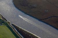 aerial photograph Petaluma River, Sonoma county, California