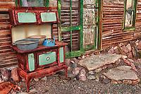 Rusting Stove Shack Exterior - Eldorado Canyon - Nelson NV - HDR