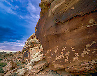 Ute petroglyphs, Arches National Park, Utah