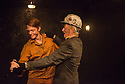 London, UK. 08.09.2014. LAND OF OUR FATHERS, by Chris Urch, directed by Theatre503's Paul Robinson, opens at the Trafalgar Studios. Picture shows: Joshua Price (Mostyn) and Clive Merrison (Bomber). Photograph © Jane Hobson