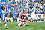 Ole Miss'  Bryson Rose makes a field goal vs. Kentucky at Commonwealth Stadium in Lexington, Ky. on Saturday, November 5, 2011. ..