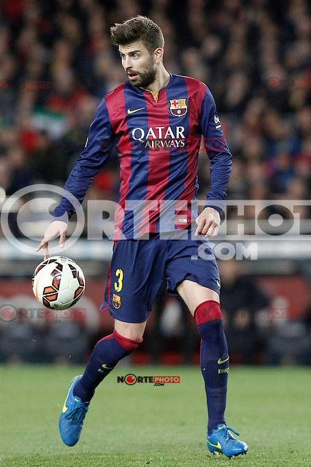 FC Barcelona's Gerard Pique during La Liga match.March 22,2015. (ALTERPHOTOS/Acero) /NORTEphoto.com
