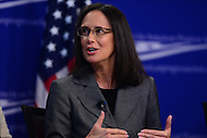 "Washington, DC - February 27, 2017: Illinois Attorney General Lisa Madigan speaks during the ""States Defending Progress forum at the Center for American Progress February 27, 2017.  (Photo by Don Baxter/Media Images International)"