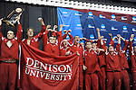 26 MAR 2011: The Denison men's swimming and diving team celebrates their national title during the Division III Menís and Womenís Swimming and Diving Championship held at Allan Jones Aquatic Center in Knoxville, TN. Denison won the title over Kenyon by a score of 500.5 to 499.5. David Weinhold/NCAA Photos