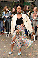 Yara Shahidi arrives for the Topshop Unique AW17 show as part of London Fashion Week AW17 at Tate Modern, London, UK. <br /> 19 February  2017<br /> Picture: Steve Vas/Featureflash/SilverHub 0208 004 5359 sales@silverhubmedia.com