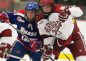 Daniel Furlong (UML - 6), Petr Placek (Harvard - 27) - The visiting University of Massachusetts Lowell River Hawks defeated the Harvard University Crimson 5-0 on Monday, December 10, 2012, at Bright Hockey Center in Cambridge, Massachusetts.