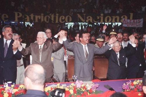En 1996 el PLD pactó con el PRSC, liderado por Joaquín Balaguer, para poder ganar las elecciones y ascender al poder por primera ocasión, con Leonel Fernández de candidato presidencial y Jaime David Fernández Mirabal, candidato vicepresidencial.