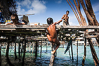 Bajau children on Omadal Island