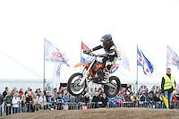 MOTORSPORT: JOURE: 09-06-2013, Circuit De Woudfennen, Supermoto Races, Jeugd klasse, Oege de Haan Ureterp (#444), ©foto Martin de Jong