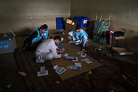 Voting gets underway in Jalalabad city, capital of Nangarhar province in Afghanistan for the presidential elections. 5-4-14 Counting begins at the Abdul Wakil High School Polling station in Jalalabad.