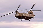 Nevada Army National Guard Ch-47D &quot;Chinook&quot; aircraft from Detachment 1, 140th Aviation Company flies over Lemon Valley, north of Reno, Nevada.