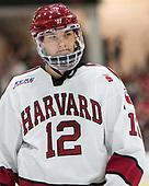 John Marino (Harvard - 12) - The Harvard University Crimson defeated the visiting Cornell University Big Red on Saturday, November 5, 2016, at the Bright-Landry Hockey Center in Boston, Massachusetts.