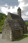 Europe, Ireland, Glendalough. St. Kevin's CHurch at Glendalough with mini  round tower.