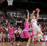 STANFORD, CA - February 10, 2013: Stanford Cardinal's Tess Picknell during Stanford's game against Arizona State at Maples Pavilion in Stanford, California.  The Cardinal defeated the Sun Devils 69-45.