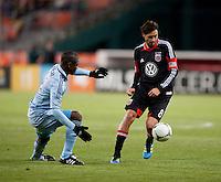 Julio Cesar, Branko Boskovic.  Sporting KC defeated D.C. United, 1-0, at RFK Stadium in Washington, DC.