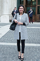 Roma 15 marzo 2013.Montecitorio l'arrivo dei parlamentari alla Camera dei Deputati per l' inizio della XVII legislatura..La deputata del PD Alessia Morani