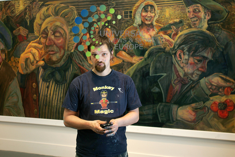 The Mural of Tam O'Shanter poem in the new Burns Museum in Alloway Painted by Artist Christopher Rutterford.<br /> Picture: Universal News and Sport (Europe)17/10/2011