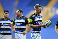Rhys Priestland of Bath Rugby looks on during a break in play. Aviva Premiership match, between London Irish and Bath Rugby on November 7, 2015 at the Madejski Stadium in Reading, England. Photo by: Patrick Khachfe / Onside Images