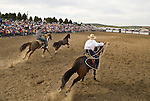 Big Loop horse roping at the Jordan Valley Big Loop Rodeo.