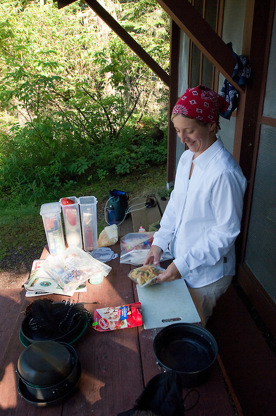 Backcountry cooking at Isle Royale National Park.
