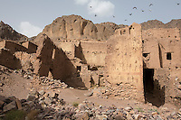 Morocco - Oasis of Fint - Traditional houses in the Oasis of Fint. The Oasis has been the set of several well-known movies, including Lawrence of Arabia, Jesus of Nazareth, Alibaba, Moses and Cleopatra.