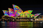 Sydney Opera House is illuminated during the Vivid Light Festival.