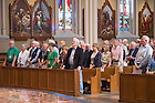 June 5, 2015; 50-year Club Mass in the Basilica of the Sacred Heart, Reunion 2015. (Photo by Matt Cashore/University of Notre Dame)