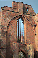 Ruins of the Franziskaner-Klosterkirche or Franciscan Monastery Church, c. 1250, destroyed during World War Two, on Waisenstrasse, Mitte, Berlin, Germany. Picture by Manuel Cohen