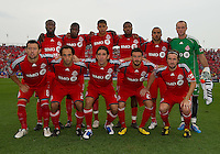 21 August 2010: The Toronto FC starting eleven during a game between the New York Red Bulls and Toronto FC at BMO Field in Toronto..The New York Red Bulls won 4-1.
