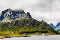 Norway, Lofoten. The fjord between Moskenesøya and Flakstadøya.